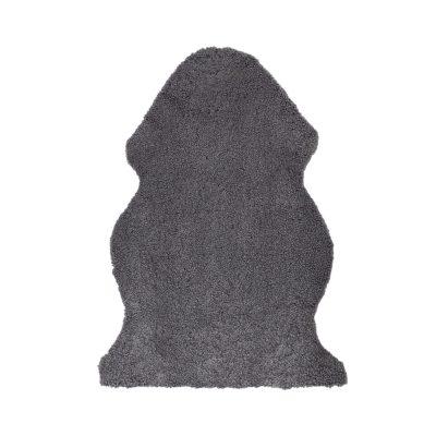 Schapenvacht geschoren zilver grijs