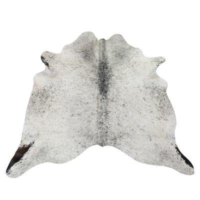 Gray white cowhide
